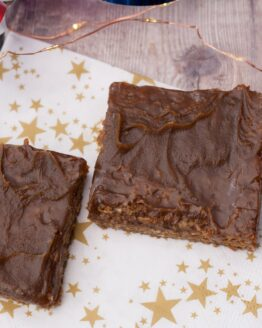 Sticky toffee flapjacks